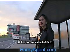 HornyAgent Amateur Asian anal sex outside on the car