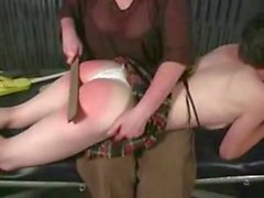 Female to young girl otk spanking red bottom lots of tears - xHamster
