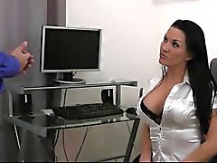 naughty-hotties - secretary job ladder quickie cum on ti