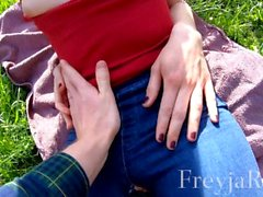 FreyjaRode Public Sex In the Park With Ripped Jeans - Pov 4k