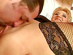 Fat grandma enjoys hard fucking