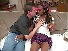 Candy Sweets Gets Her Holes Stuffed By Big White Cock