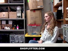 ShopLyfter Blonde Gets The HARD End