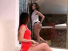A Girl Knows - Russian and Hungarian lesbians in erotic sex