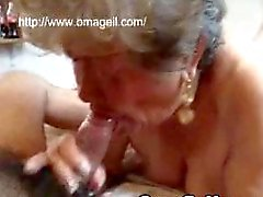 OmaGeil Old granny sucking dick and playing with her pussy