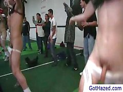 Football team getting gay hazed by gothazed