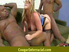 Sexy cougar MILF loves to fuck black monster dick 13