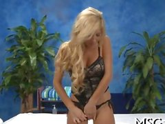 Busty blonde angel licks and rides a cock