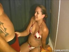 Bikini Handjob And Cumblast