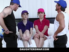 DaughterSwap - Horny Tennis Girls Ride Stepdads Cock