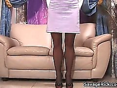 Sexy secretary Liz gets tied by kinky part4