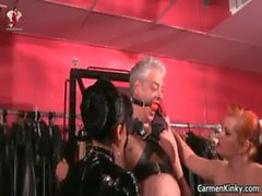 Kinky Carmen and her redhead friend get