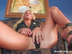 Blonde hottie Brooke needs two cocks to be satisfied