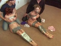 two girl taped