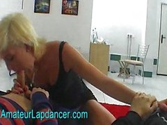 Double BJ and lapdance by hot czech blonde