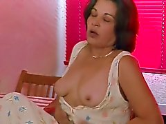 Hairy Mature in hot masturbation and orgasm