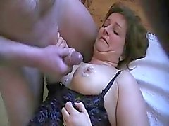 Mature danish chubby lady gangbanged