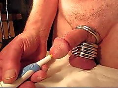 Orgasm Close-up com o da uretra do vibrador