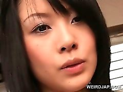 Cute asian doll gets stripped naked and cunt teased