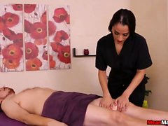 Hot And Naughty Masseuse Plays Her Game