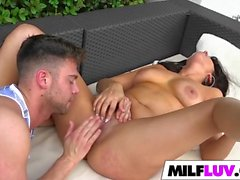 Pretty MILF Veronica Lemos Takes Pounding