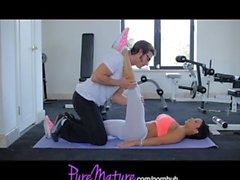 PureMature Flexible Hot MILF Jewels Jade Workout