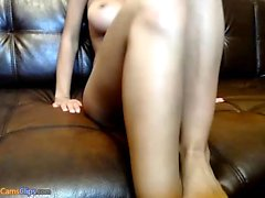 Busty blonde Abbey Brooks having a horny solo masturbation