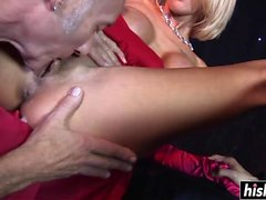 Tia Layne and the twins get nailed