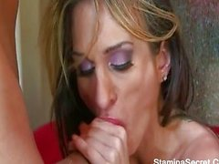 Big tit babe Sarah Jessie drilled hard