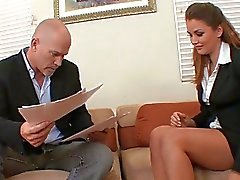 Full sex in office with boss