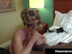 Busty Cougar Deauxma Bangs A Big Black Cock!