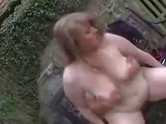 Cute plumper outdoor fucking