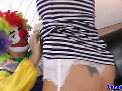 British stockings milf cockriding clown