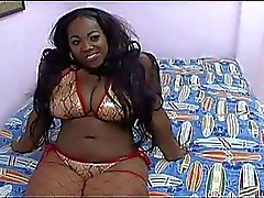 Massive tits fatty ebony in fishnets nasty pussy pounding fun