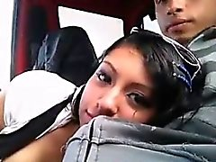 Latina girl Blowjob in car