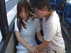 Perverted Oriental Floozy Acquires Her Bawdy Cleft Slammed Hard In The Bus By Lewd Dudes