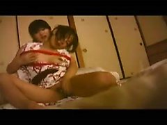 Submissive Japanese girl has her lesbian lover eating out h