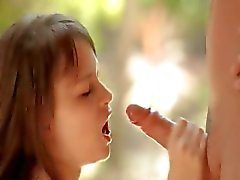 Grote lul met klein meisje