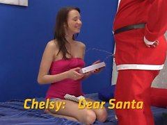 Santa soaks Chelsy in warm piss