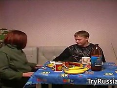 Young Guy Bangs A Horny Russian Woman