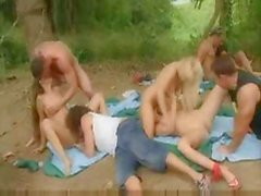 Outdoor orgy survival training
