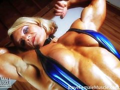 Amazing Muscle Girl Brigita Brezovac Flexing Her Ultimate Hardbody