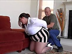 Joy hogtied in pantyhose