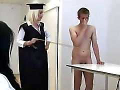 CFNM guy in school punishment fantasy with femdom girls