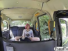 Pink hair amateur passenger gets railed by fake driver