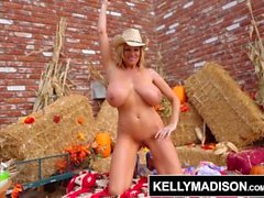 KELLY MADISON Serves Up Some Tits-Giving Cuntry Pie!