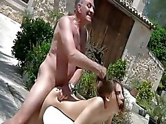 Tina Blade tricks oldman for sex