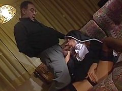 HD Vintage Nun Sucks Big Hard Dick And Gets Fucked Hard