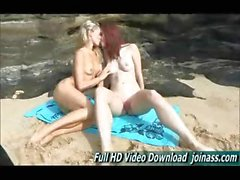 Melody and Lena teen playing in the waves naked