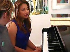 Maple Lee was in the middle of her piano lesson with...